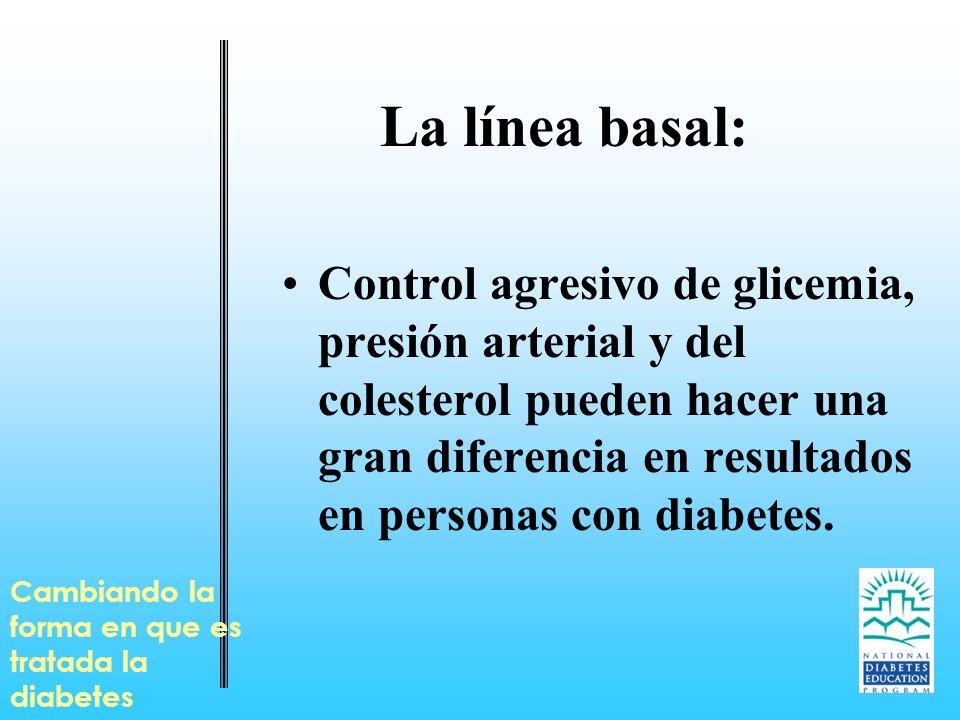 La línea basal: Control agresivo de glicemia, presión arterial y del colesterol pueden hacer una gran diferencia en resultados en personas con diabete