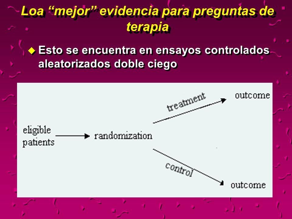 Etiología u ¿Los resultados del estudio pueden ser extrapolados a mi paciente.