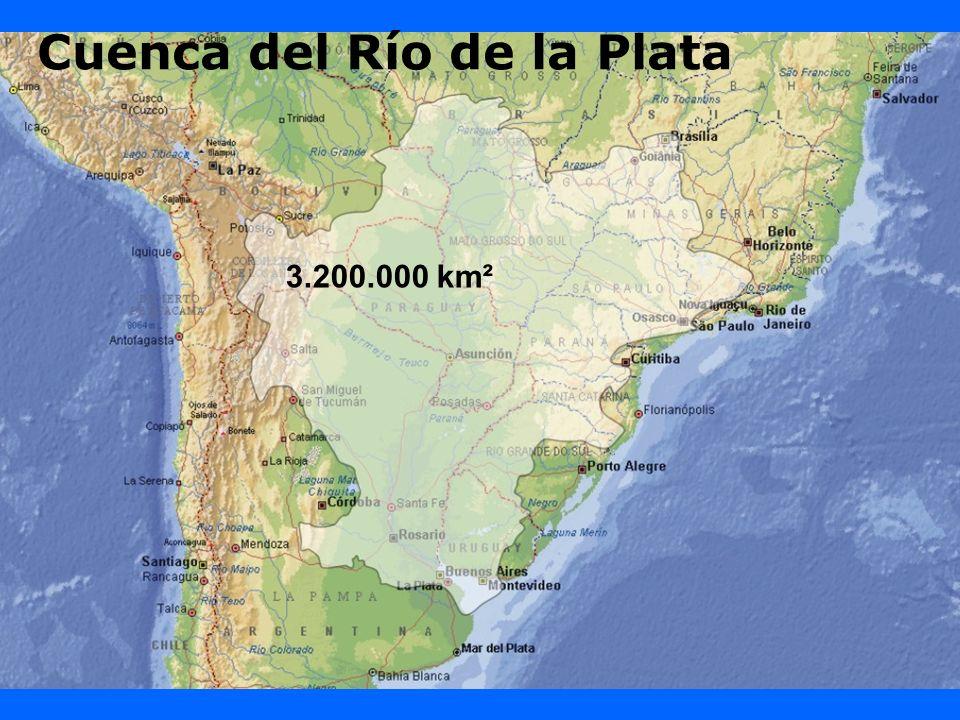 Cuenca del Río de la Plata 3.200.000 km²