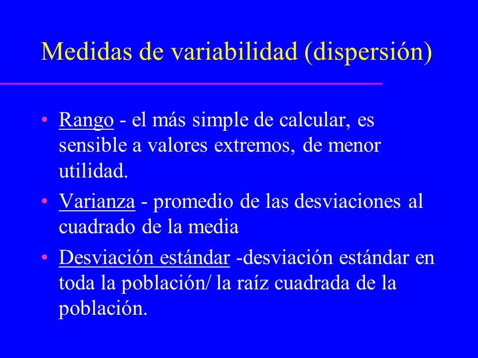 La regla empírica (Teorema del límite central) Dando un n grupo de mediciones normalmente distribuidas, en promedio: –68.3% de las mediciones están a 1 desviación estándar de la media –95.5% de las mediciones están a 2 desviaciones estándar de la media –99.7% de las mediciones están a 3 desviaciones estándar de la media.