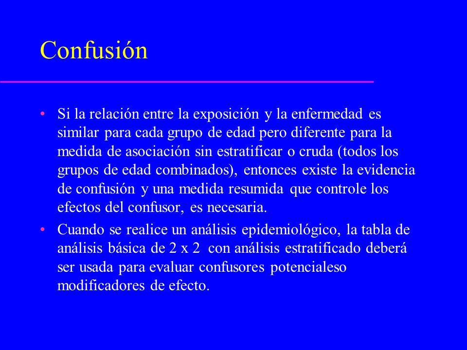 Riesgo Atribuible [RA] (Fracción atribuible) Ofrece una medida de qué proporción de la enfermedad puede ser atribuída a la exposición.