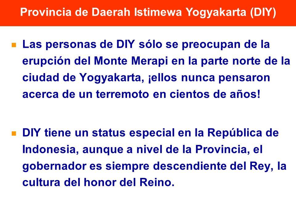 Provincia de Daerah Istimewa Yogyakarta (DIY) Las personas de DIY sólo se preocupan de la erupción del Monte Merapi en la parte norte de la ciudad de