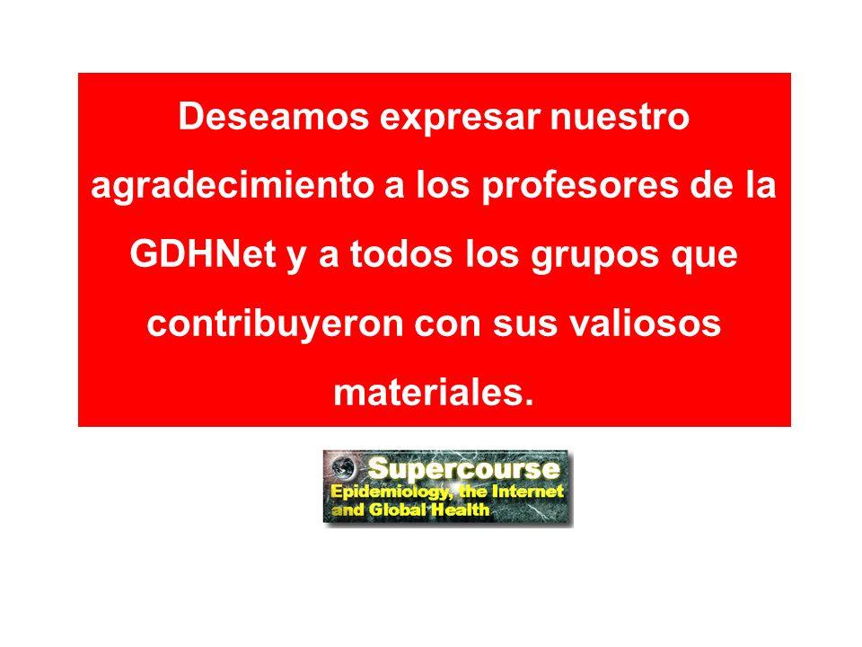 Deseamos expresar nuestro agradecimiento a los profesores de la GDHNet y a todos los grupos que contribuyeron con sus valiosos materiales.
