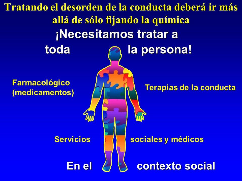 Tratando el desorden de la conducta deberá ir más allá de sólo fijando la química Farmacológico (medicamentos) ¡Necesitamos tratar a toda la persona!