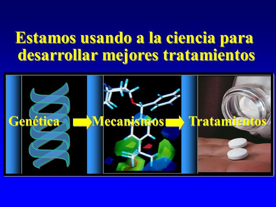Genética Mecanismos Tratamientos Estamos usando a la ciencia para desarrollar mejores tratamientos Estamos usando a la ciencia para desarrollar mejore