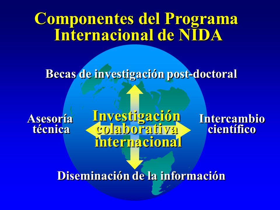 Investigación colaborativa internacional Investigación colaborativa internacional Componentes del Programa Internacional de NIDA Componentes del Progr