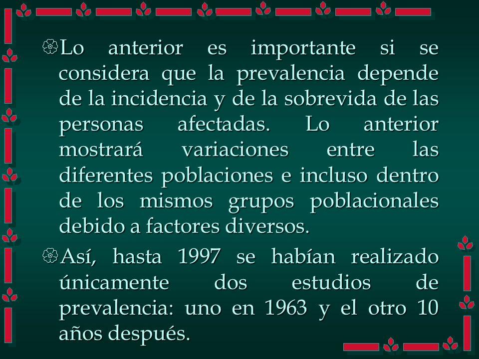 Fuentes de información La información disponible en México sobre la situación epidemiológica de la diabetes mellitus es incompleta.