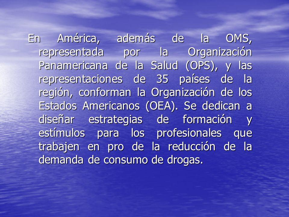 En América, además de la OMS, representada por la Organización Panamericana de la Salud (OPS), y las representaciones de 35 países de la región, confo