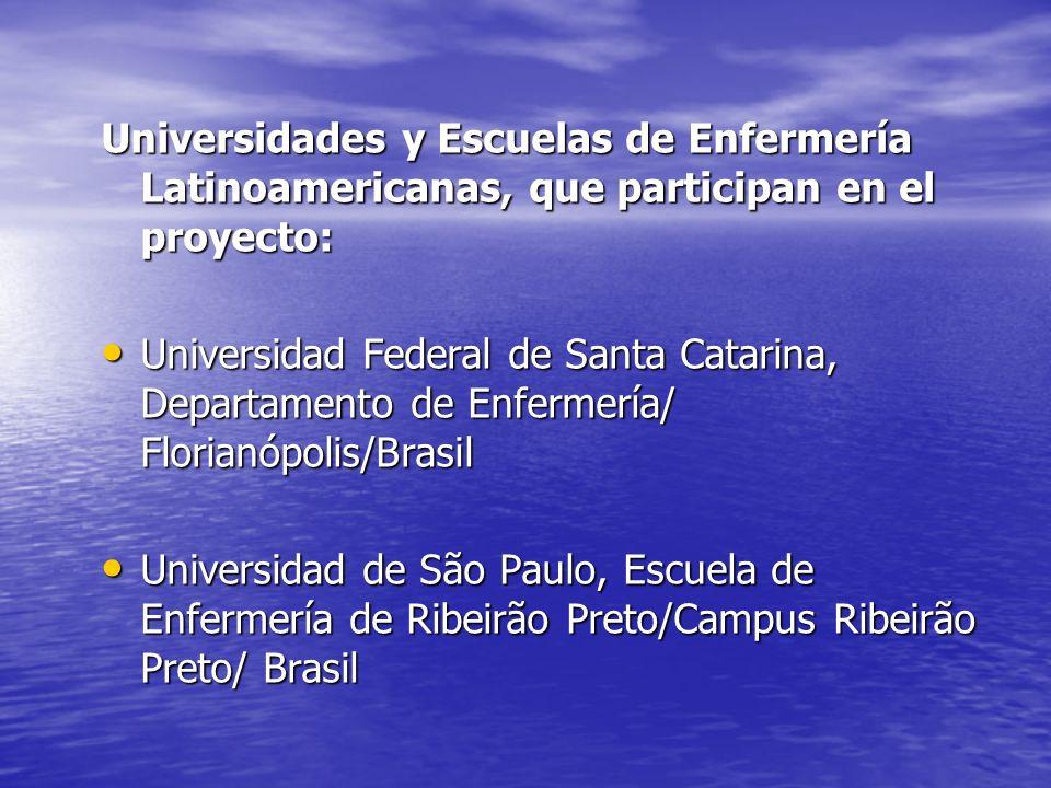 Universidades y Escuelas de Enfermería Latinoamericanas, que participan en el proyecto: Universidad Federal de Santa Catarina, Departamento de Enferme