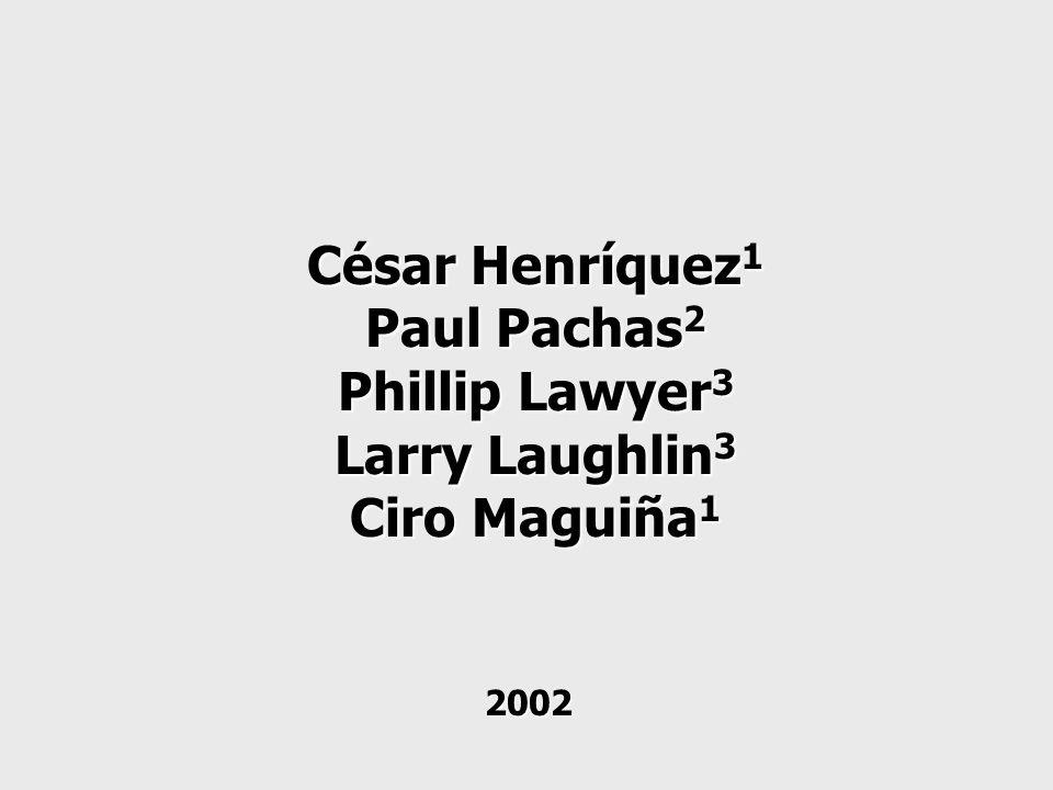 César Henríquez 1 Paul Pachas 2 Phillip Lawyer 3 Larry Laughlin 3 Ciro Maguiña 1 2002