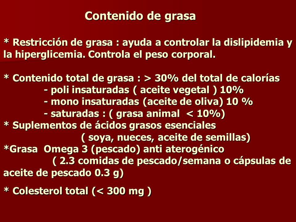 Proteína * Proteína total contenido promedio: 15% del total de calorías ( 12-20%) e.g.