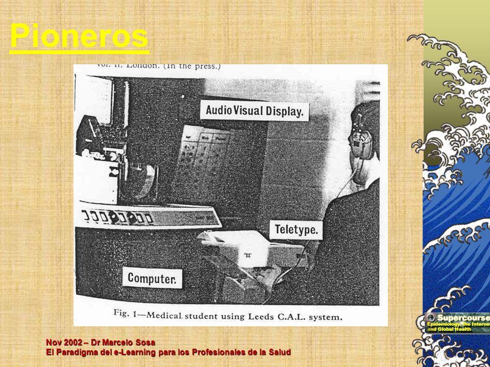 Nov 2002 – Dr Marcelo Sosa El Paradigma del e-Learning para los Profesionales de la Salud Pioneros