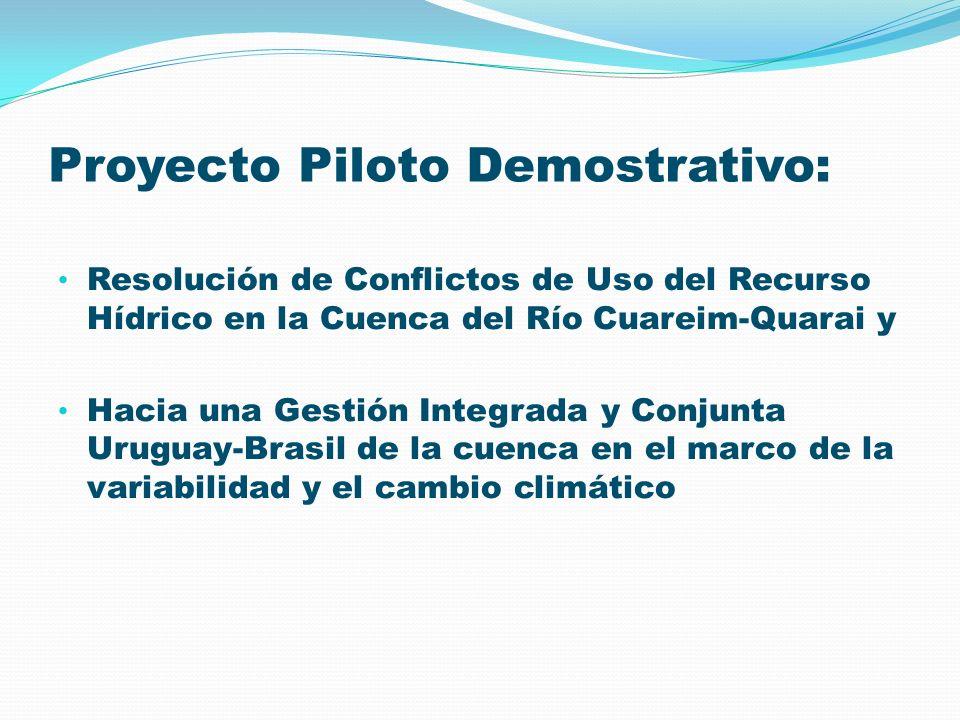 Proyecto Piloto Demostrativo: Resolución de Conflictos de Uso del Recurso Hídrico en la Cuenca del Río Cuareim-Quarai y Hacia una Gestión Integrada y
