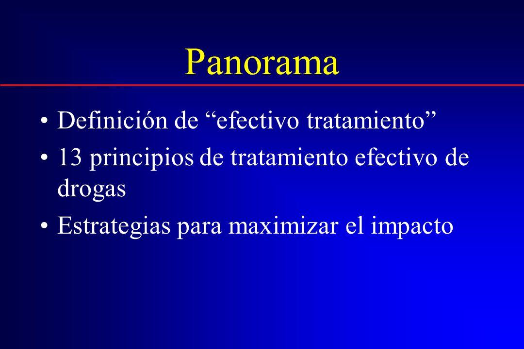 Definiendo tratamiento efectivo (basado en investigación)