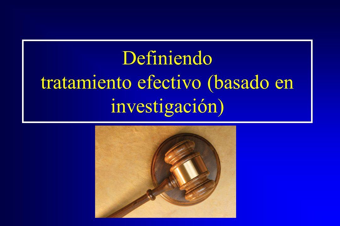 Para información adicional: Por favor consulte la sección de recursos de: Principios de tratamiento de abuso de drogas para poblaciones criminales.
