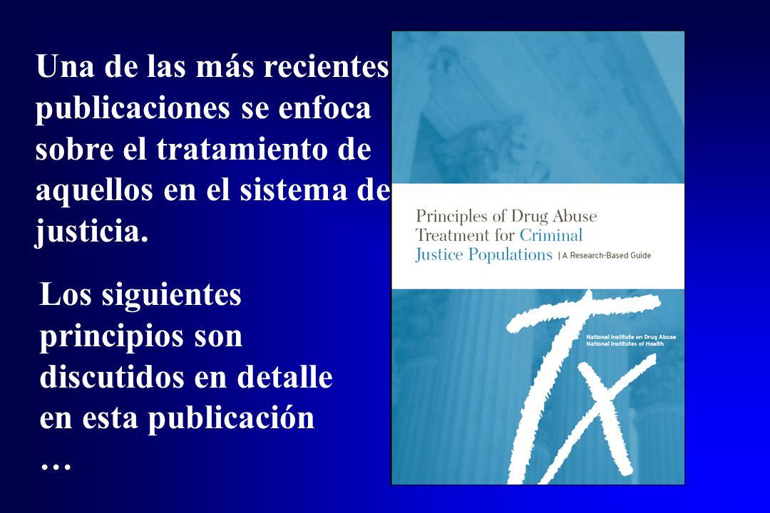 Una de las más recientes publicaciones se enfoca sobre el tratamiento de aquellos en el sistema de justicia. Los siguientes principios son discutidos