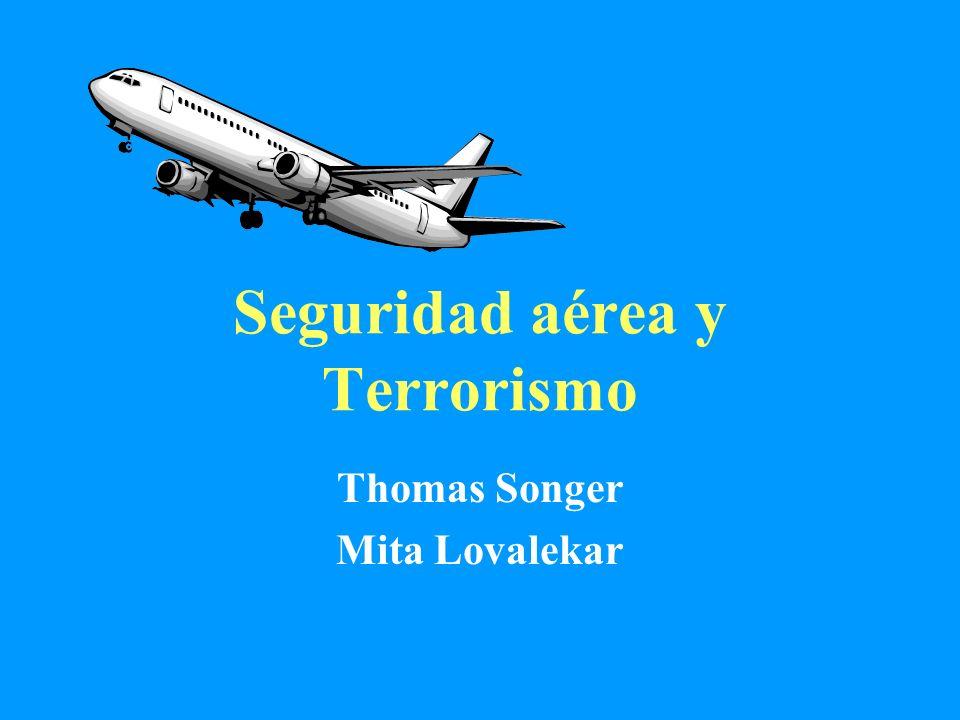 Objetivos de aprendizaje Entender el espectro de riesgos de la seguridad en el transporte en aerolíneas Identificar las fuentes de datos disponibles para estudiar los accidentes de aerolíneas Identificar el riesgo potencial relacionado al terrorismo en el transporte aéreo