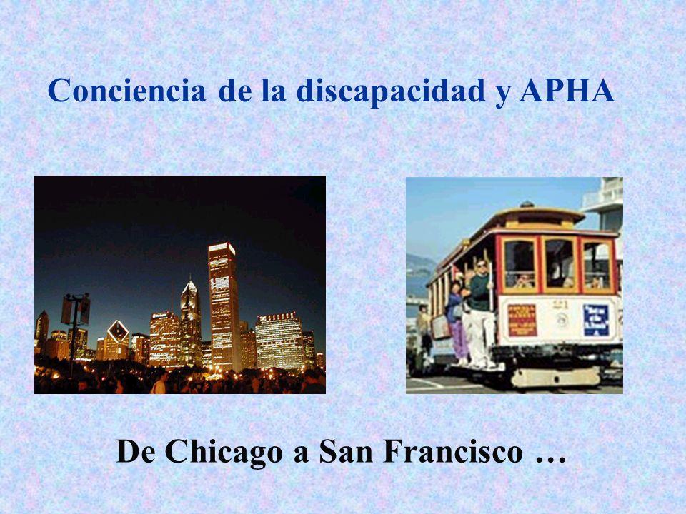 Conciencia de la discapacidad y APHA De Chicago a San Francisco …