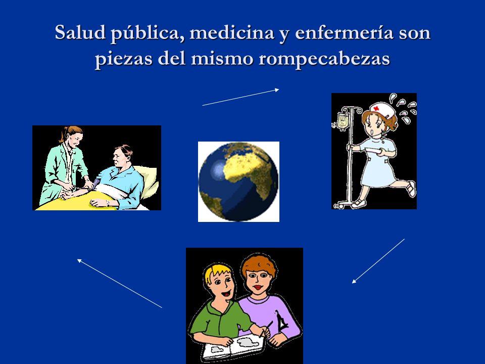 Salud pública, medicina y enfermería son piezas del mismo rompecabezas