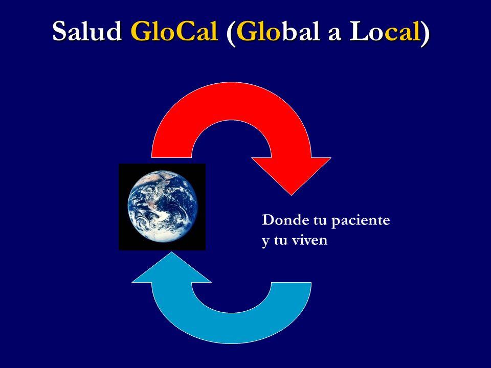 Salud GloCal (Global a Local) Donde tu paciente y tu viven