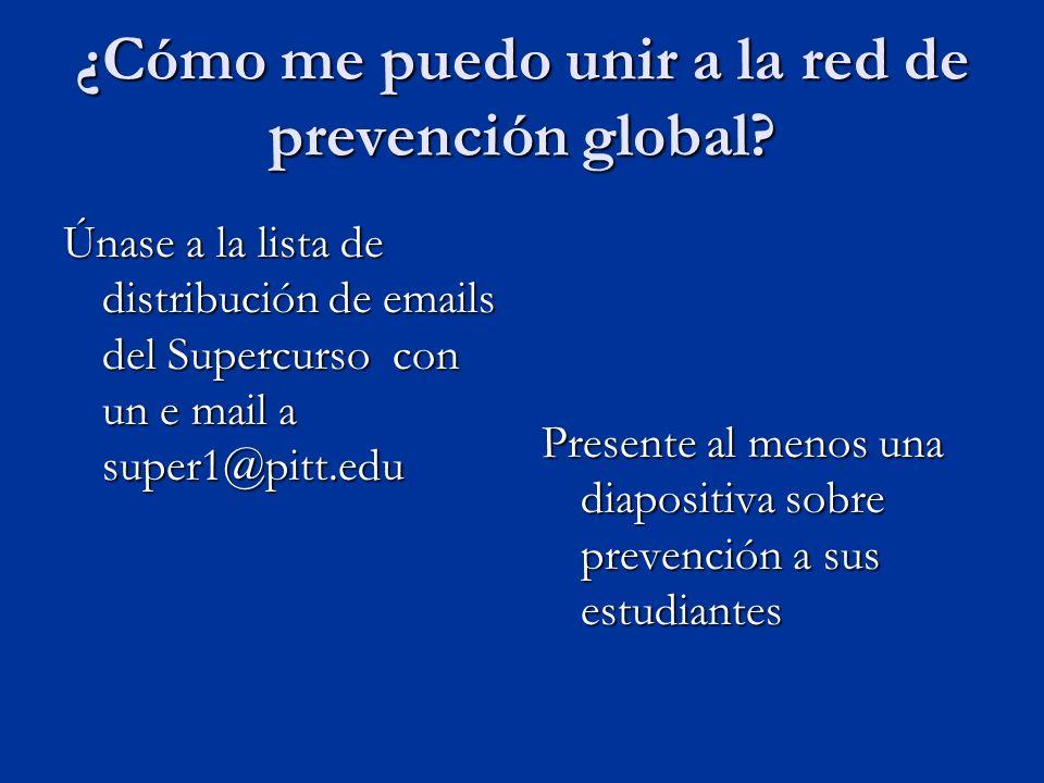 ¿Cómo me puedo unir a la red de prevención global.
