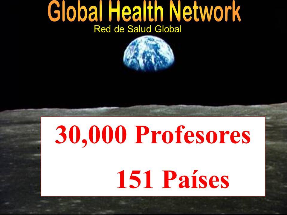 30,000 Profesores 151 Países Red de Salud Global