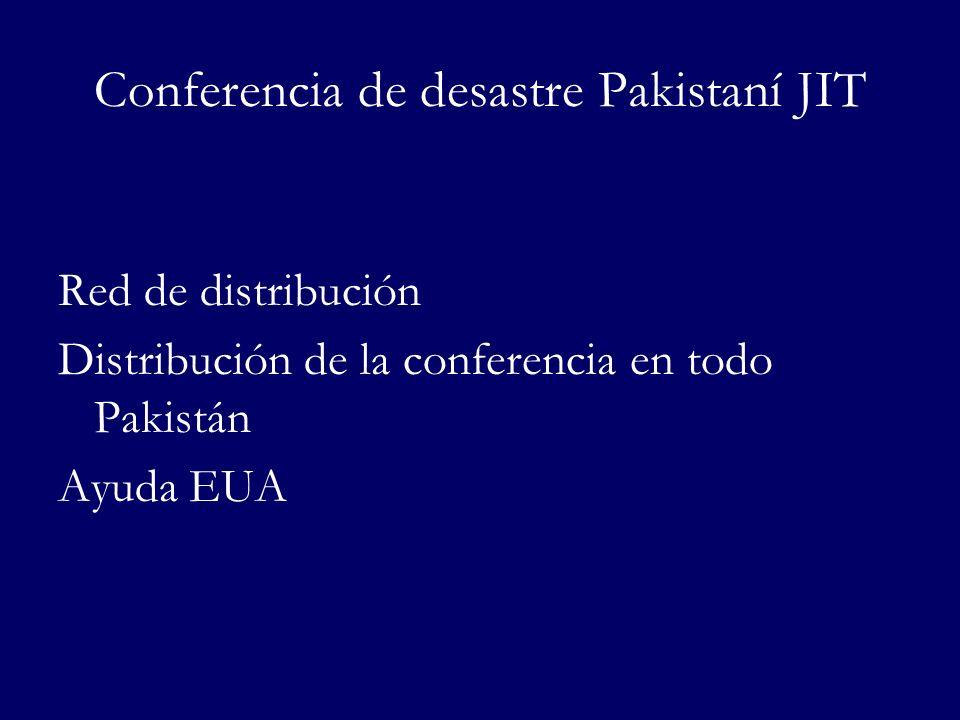 Conferencia de desastre Pakistaní JIT Red de distribución Distribución de la conferencia en todo Pakistán Ayuda EUA