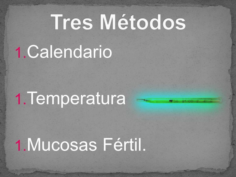 1. Calendario 1. Temperatura 1. Mucosas Fértil.