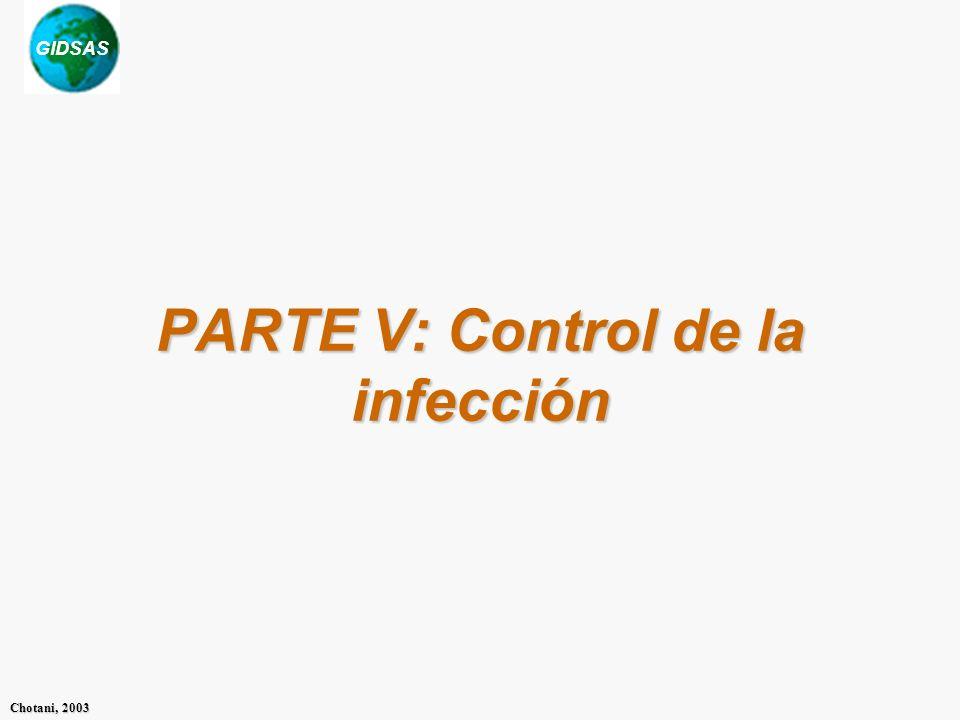 GIDSAS Chotani, 2003 PARTE V: Control de la infección