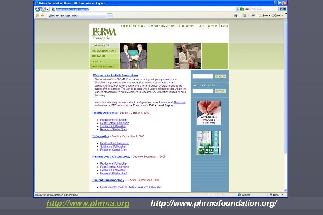 http://www.phrma.orghttp://www.phrma.org http://www.phrmafoundation.org/
