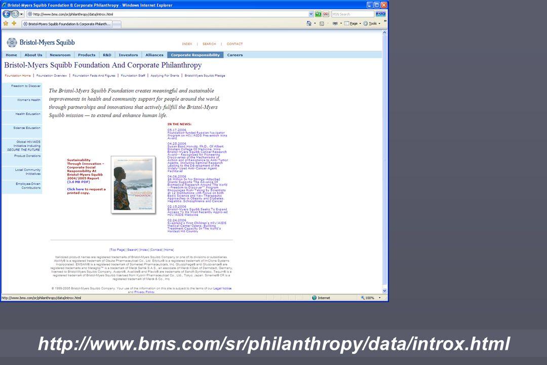 http://www.bms.com/sr/philanthropy/data/introx.html