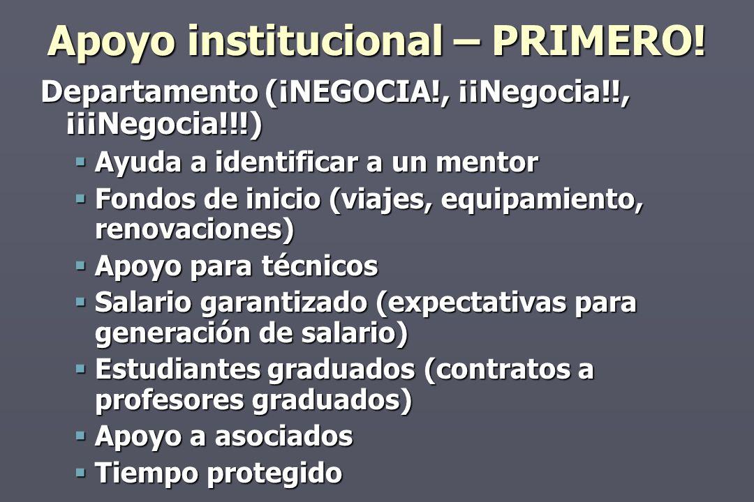 Apoyo institucional – PRIMERO.