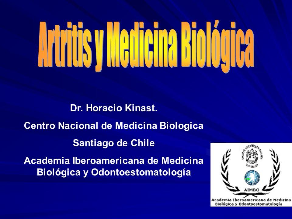 Dr. Horacio Kinast. Centro Nacional de Medicina Biologica Santiago de Chile Academia Iberoamericana de Medicina Biológica y Odontoestomatología