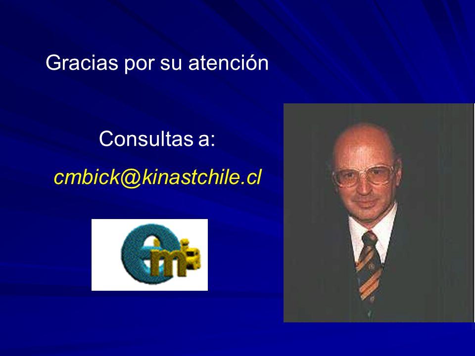 Gracias por su atención Consultas a: cmbick@kinastchile.cl