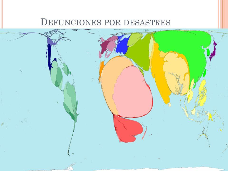 D EFUNCIONES POR DESASTRES