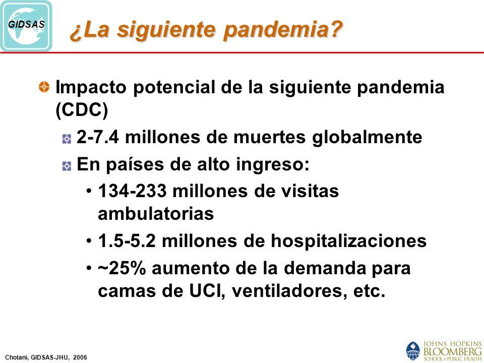 Chotani, GIDSAS-JHU, 2006 GIDSAS ¿La siguiente pandemia.