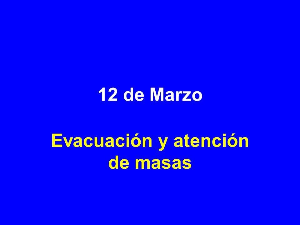 12 de Marzo Evacuación y atención de masas