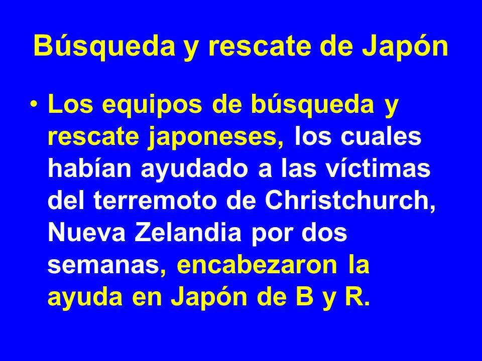 Los equipos de búsqueda y rescate japoneses, los cuales habían ayudado a las víctimas del terremoto de Christchurch, Nueva Zelandia por dos semanas, e