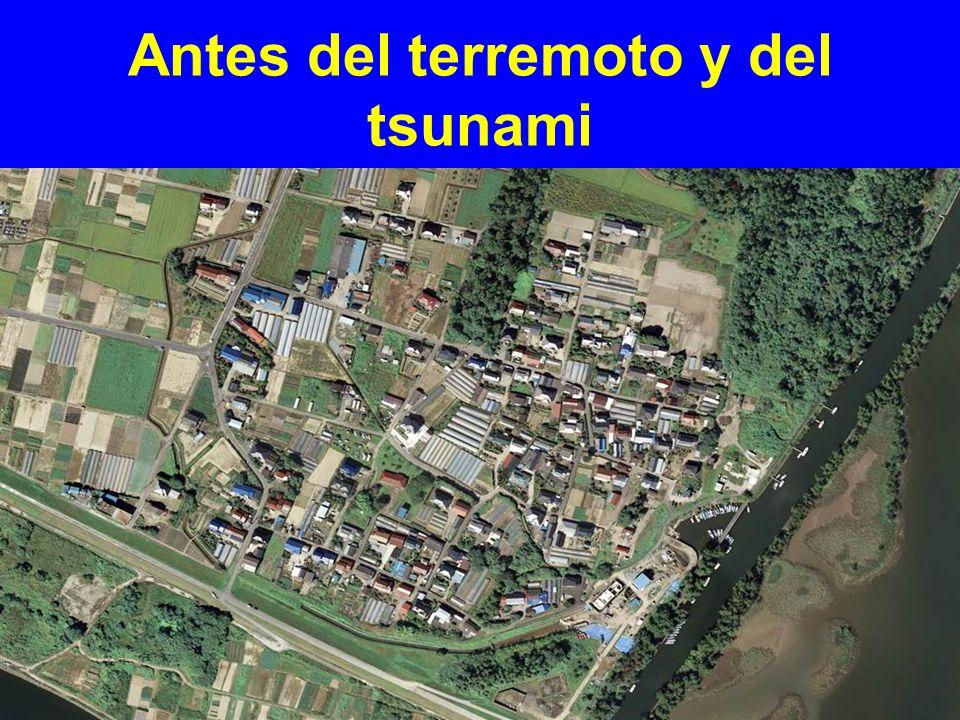 Antes del terremoto y del tsunami