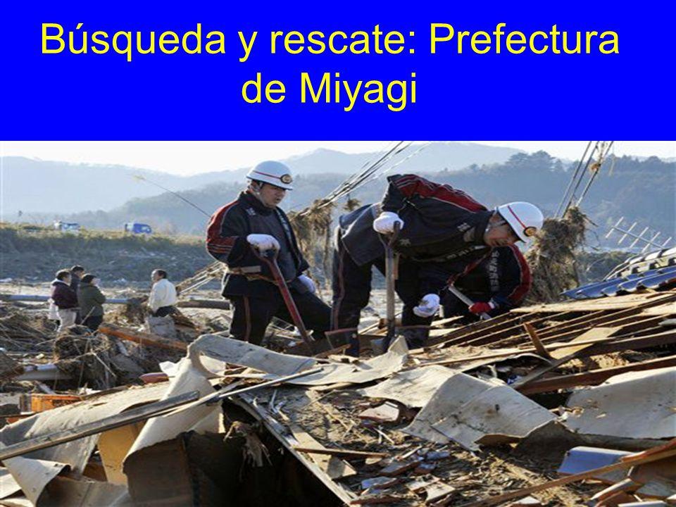 Búsqueda y rescate: Prefectura de Miyagi