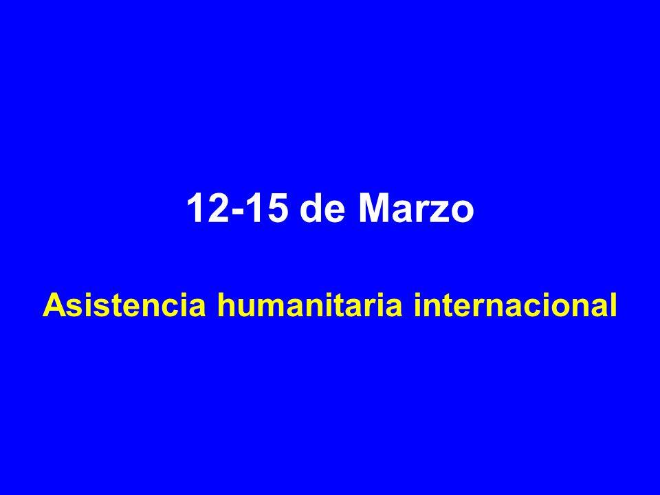 12-15 de Marzo Asistencia humanitaria internacional