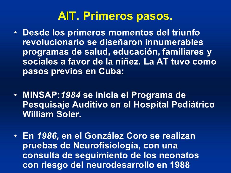 AIT. Primeros pasos. Desde los primeros momentos del triunfo revolucionario se diseñaron innumerables programas de salud, educación, familiares y soci