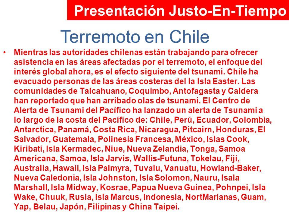 Mientras las autoridades chilenas están trabajando para ofrecer asistencia en las áreas afectadas por el terremoto, el enfoque del interés global ahor