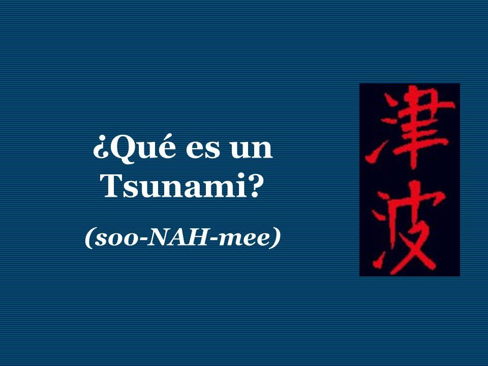 ¿Qué es un Tsunami? (soo-NAH-mee)