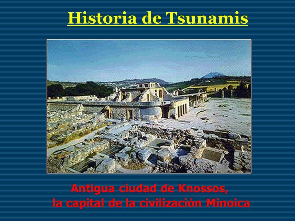 Historia de Tsunamis Antigua ciudad de Knossos, la capital de la civilización Minoica