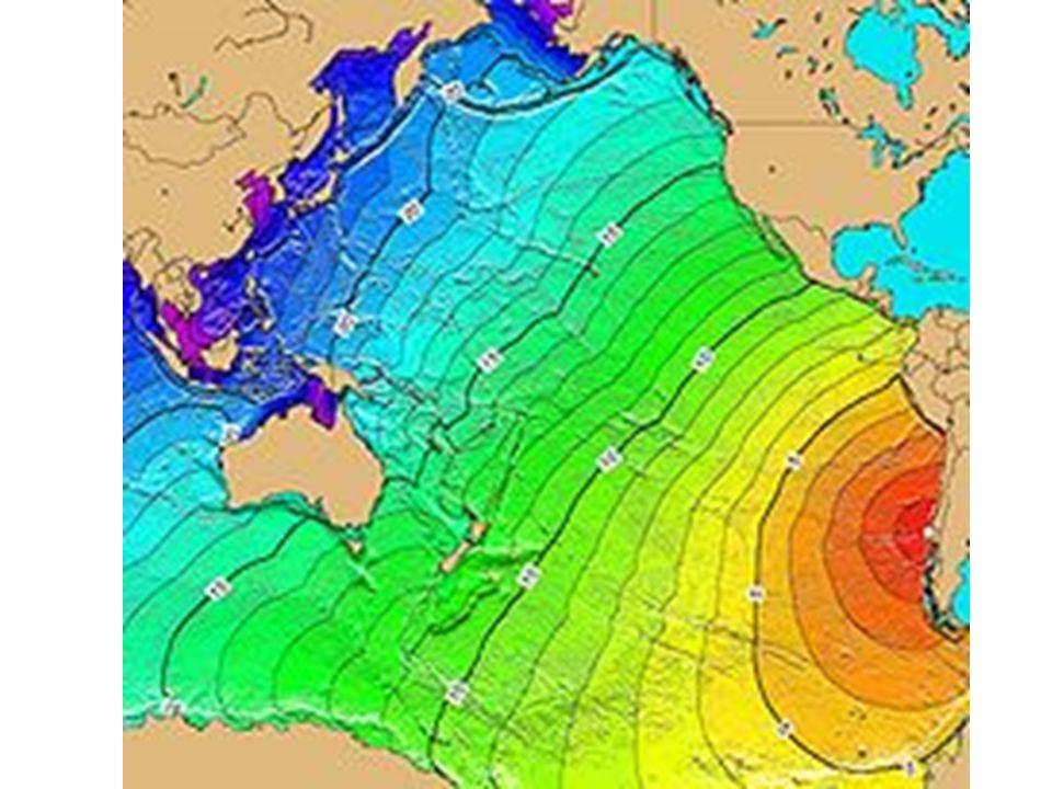 Altura del crecimiento rápido: Tsunami de origen distante : > 50 ft (15 m) Tsunami generado en el epicentro del terremoto: > 100 ft (30 m) La primera ola no es la más grande en la serie de olas.