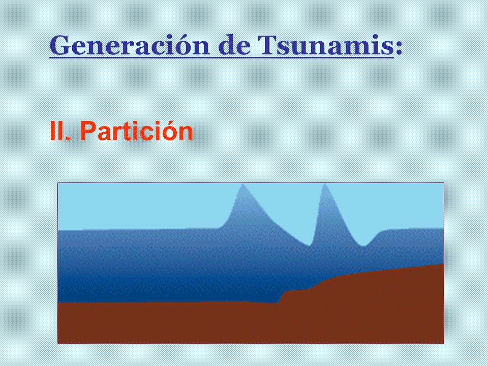 Generación de Tsunamis: II. Partición