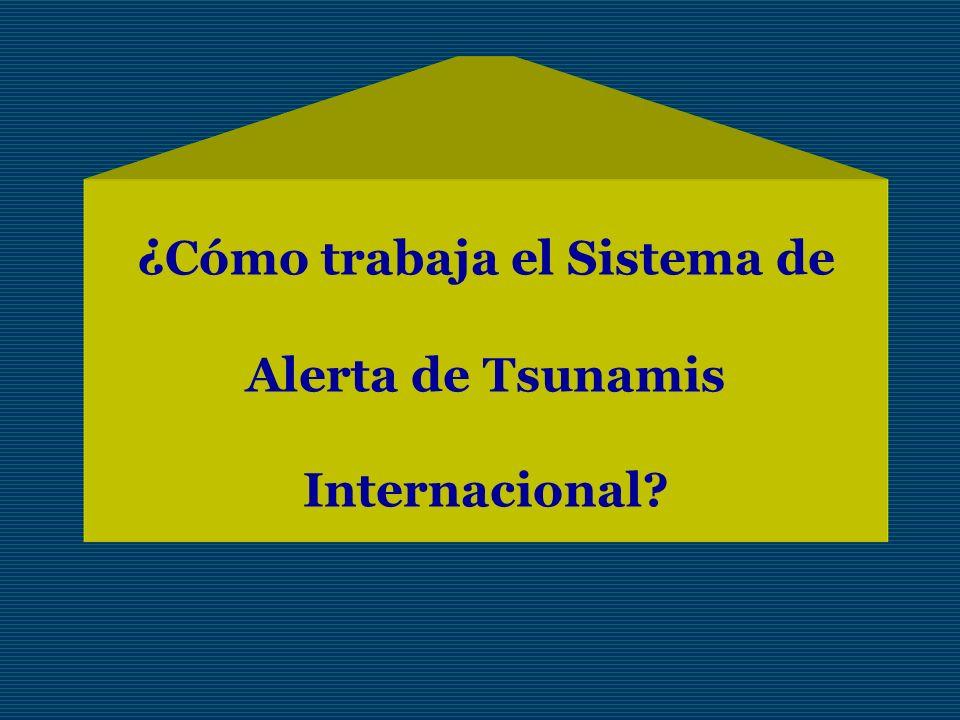 ¿ Cómo trabaja el Sistema de Alerta de Tsunamis Internacional?
