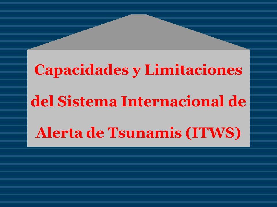 Capacidades y Limitaciones del Sistema Internacional de Alerta de Tsunamis (ITWS)