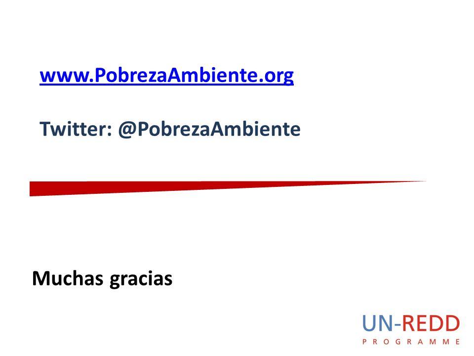 Muchas gracias www.PobrezaAmbiente.org Twitter: @PobrezaAmbiente